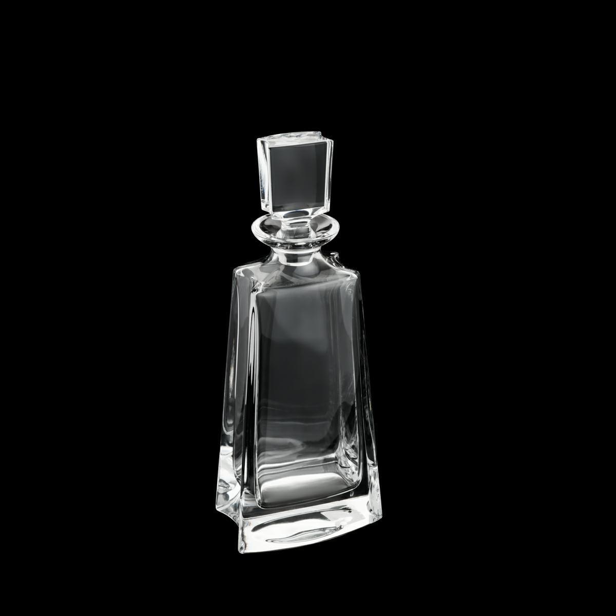 Garrafa 700ml para whisky de cristal transparente Kathrene Alta Bohemia - 35149