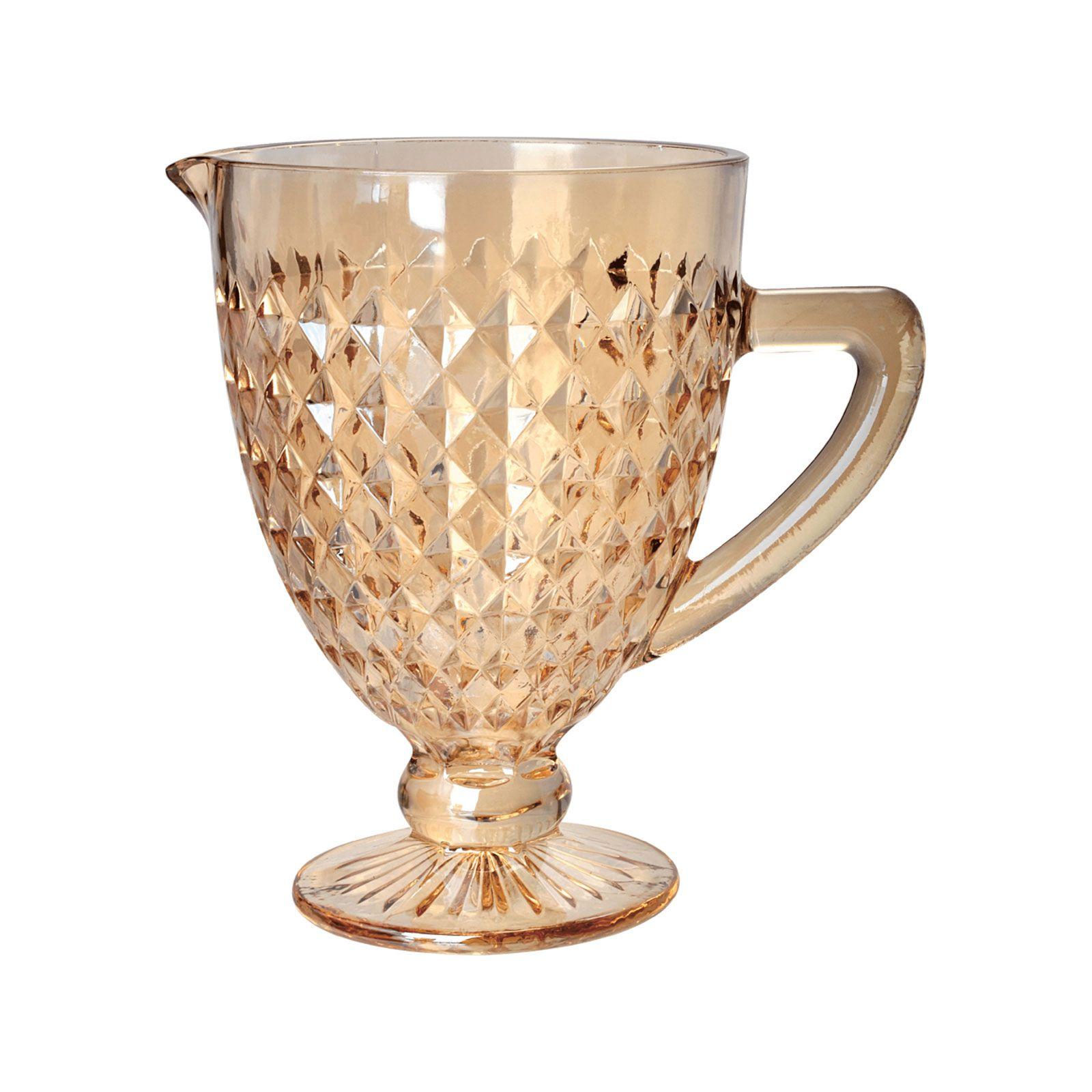 Jarra 1 litro de vidro âmbar bico de jaca Roman Bon Gourmet - 35441