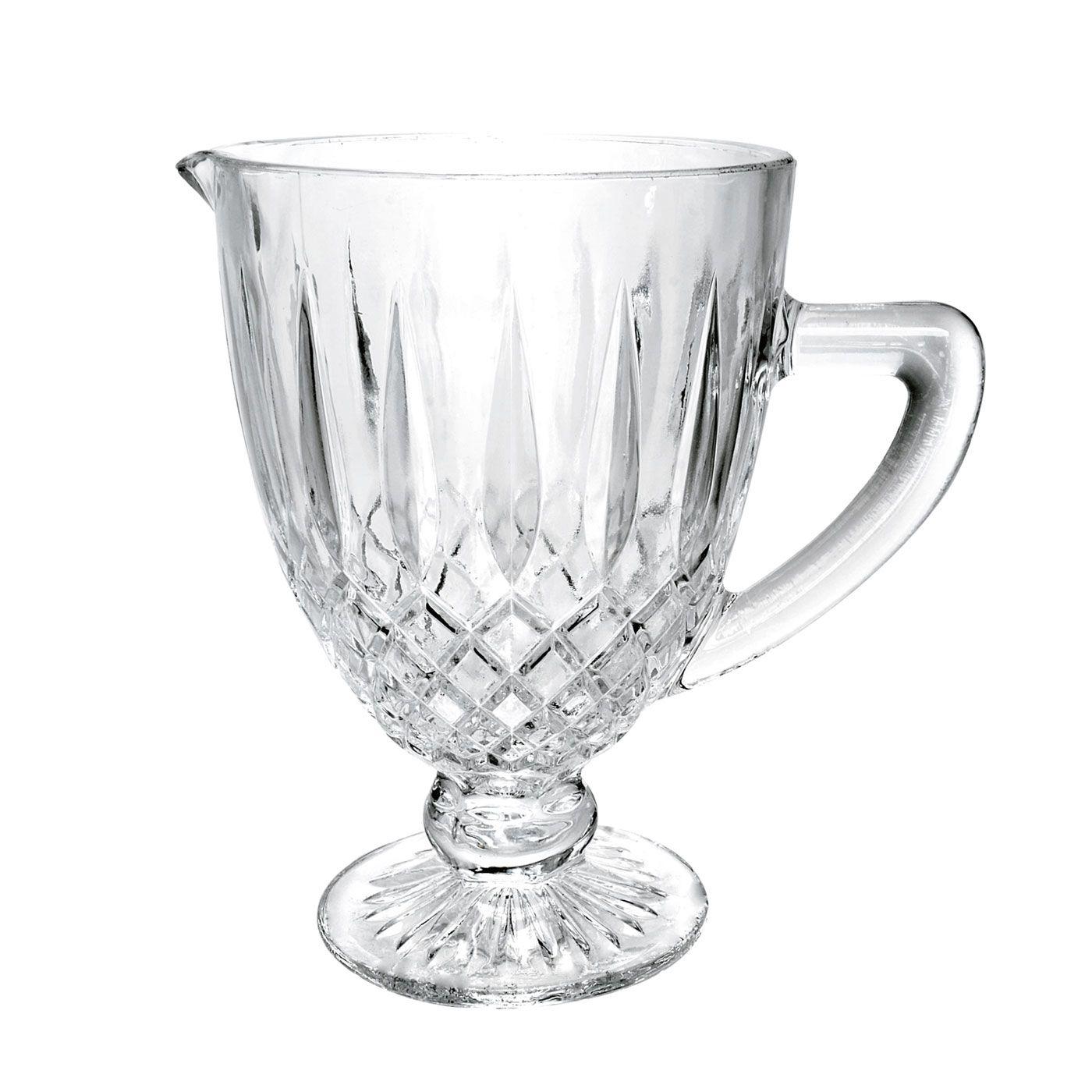 Jarra 1 litro de vidro transparente bico de jaca Greek Bon Gourmet - 35436