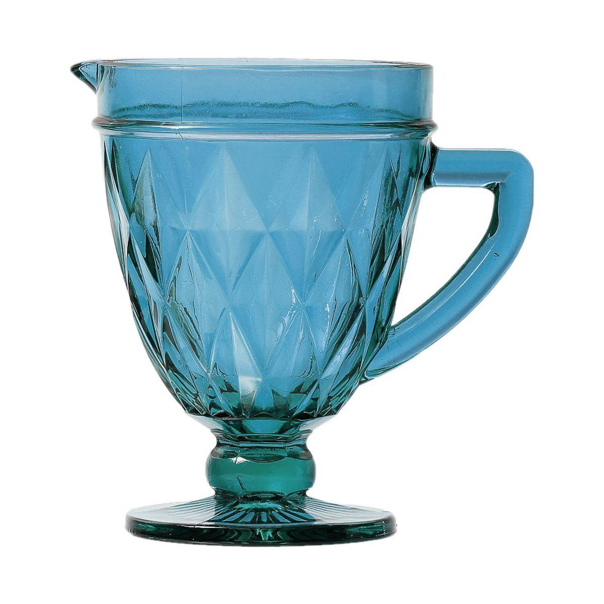 Jarra de 1 litro de vidro azul Diamond Lyor - L6497