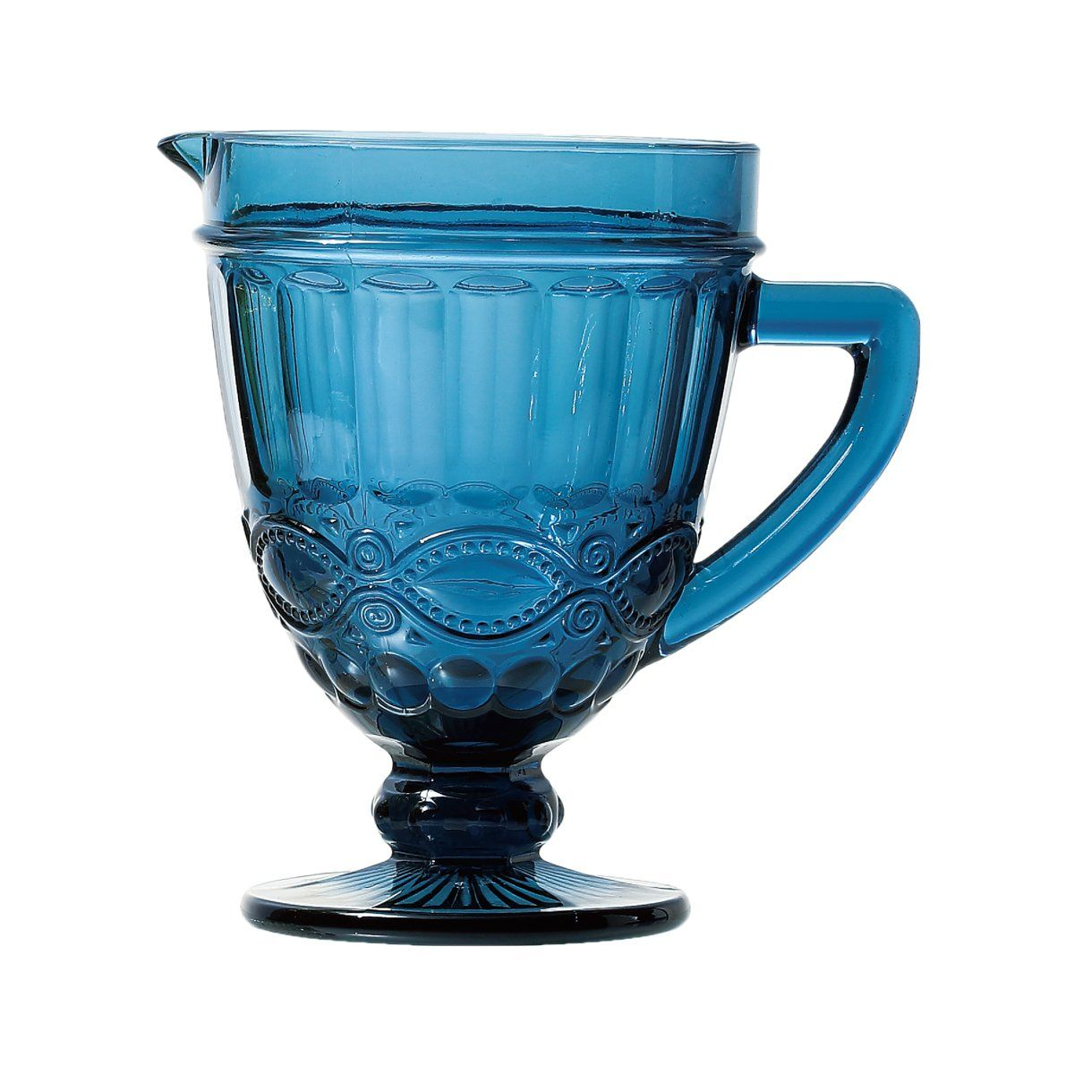 Jarra de 1 litro de vidro azul Libélula Lyor - L6515