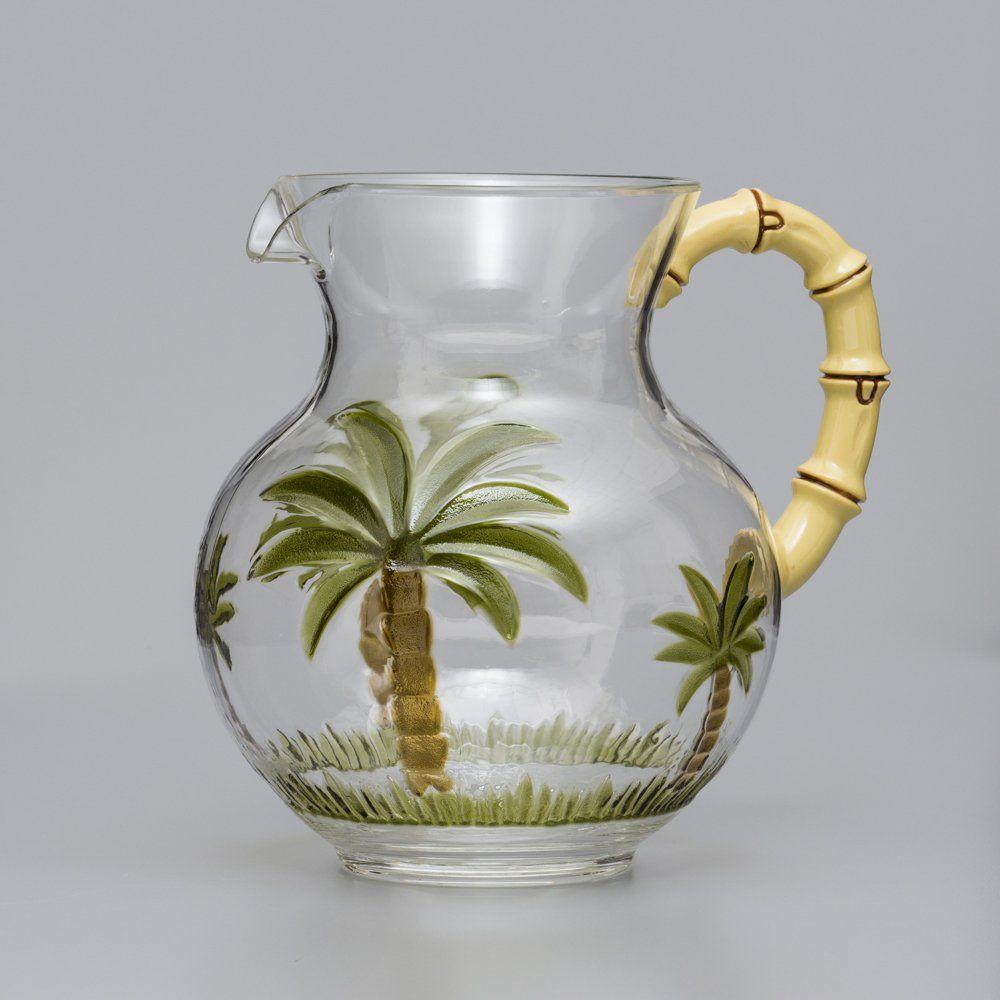 Jarra 2,5 litros para água ou suco de acrílico Palm Tree Bon Gourmet - 10939