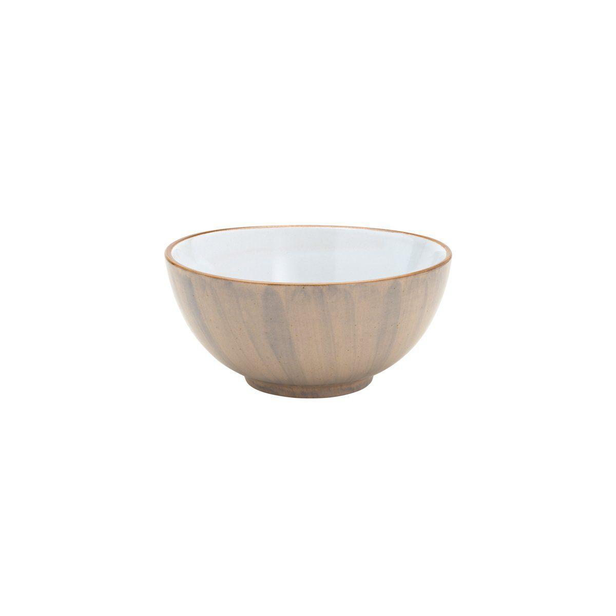 Jogo 4 bowls 14 cm para sobremesa de porcelana bege Watercolor Bon Gourmet - C26496