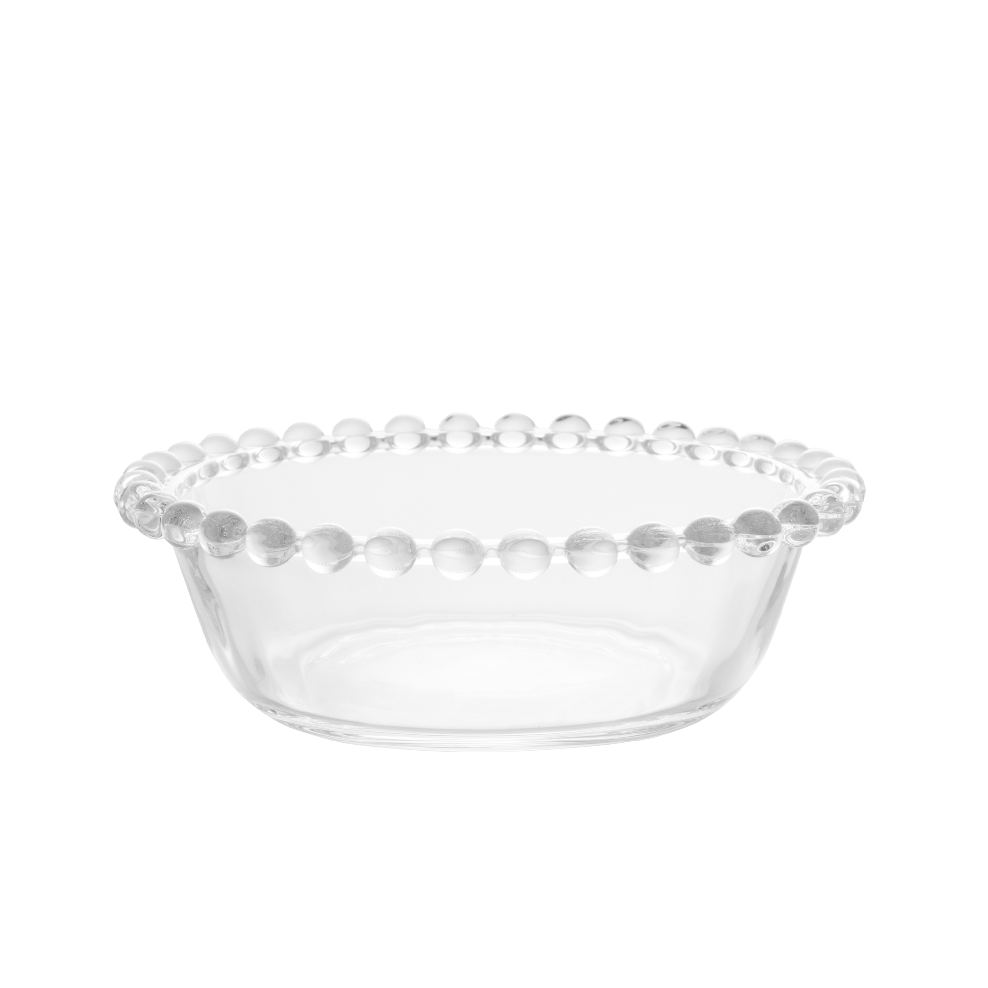 Jogo 3 bowls 14 cm para sobremesa de cristal transparente Pearl Wolff - 27893