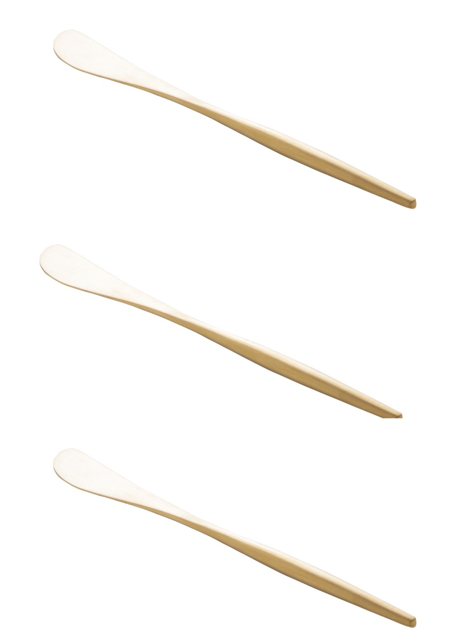 Jogo 3 peças espátulas de aço inox champanhe Kyoto Wolff - 71686
