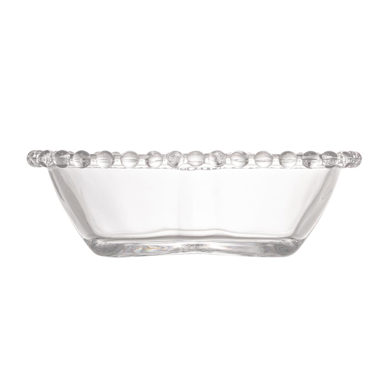 Jogo 4 bowls 12 de cristal transparente Coração Pearl Wolff - 28375