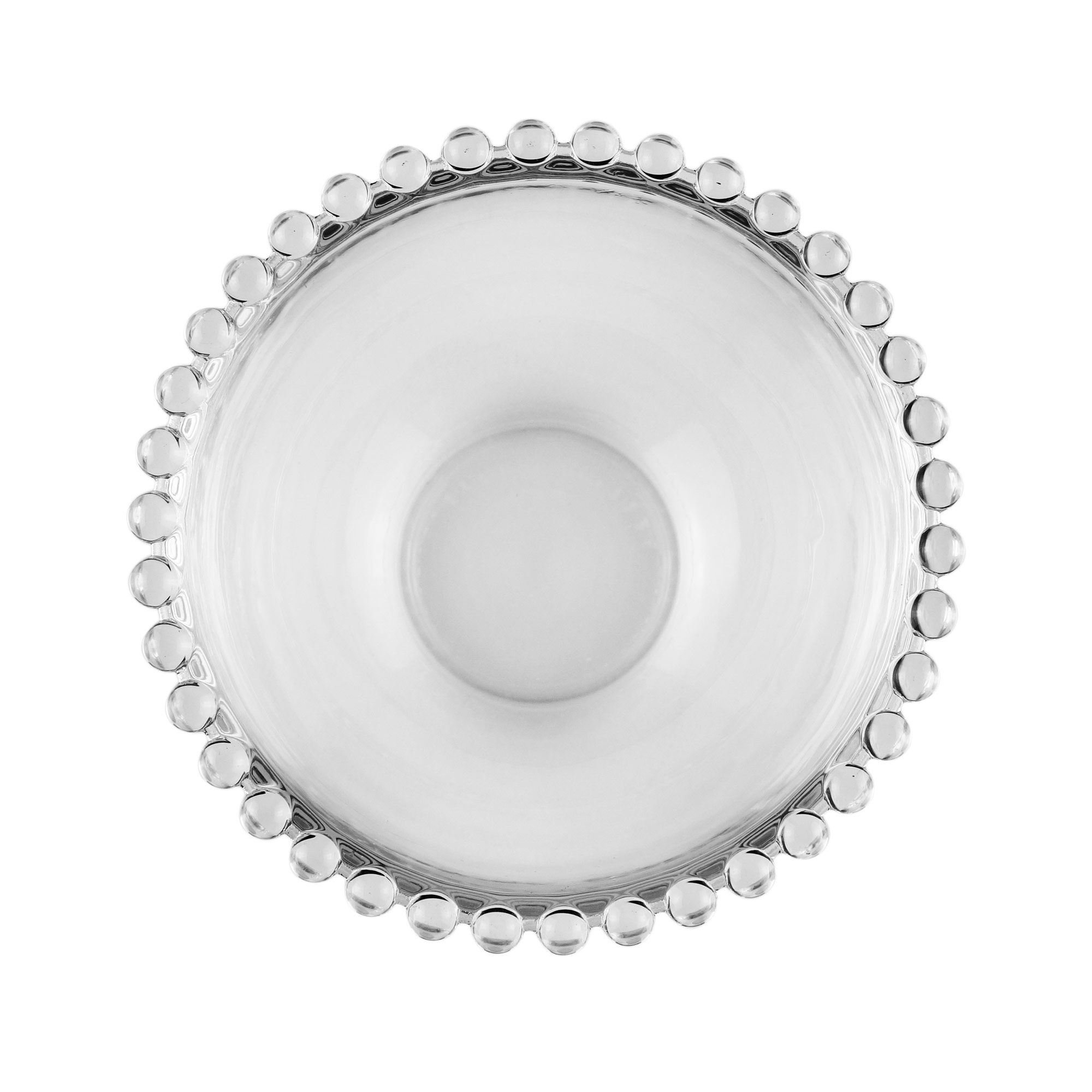Jogo 4 bowls 14 cm para sobremesa de cristal transparente Pearl Wolff - 27895