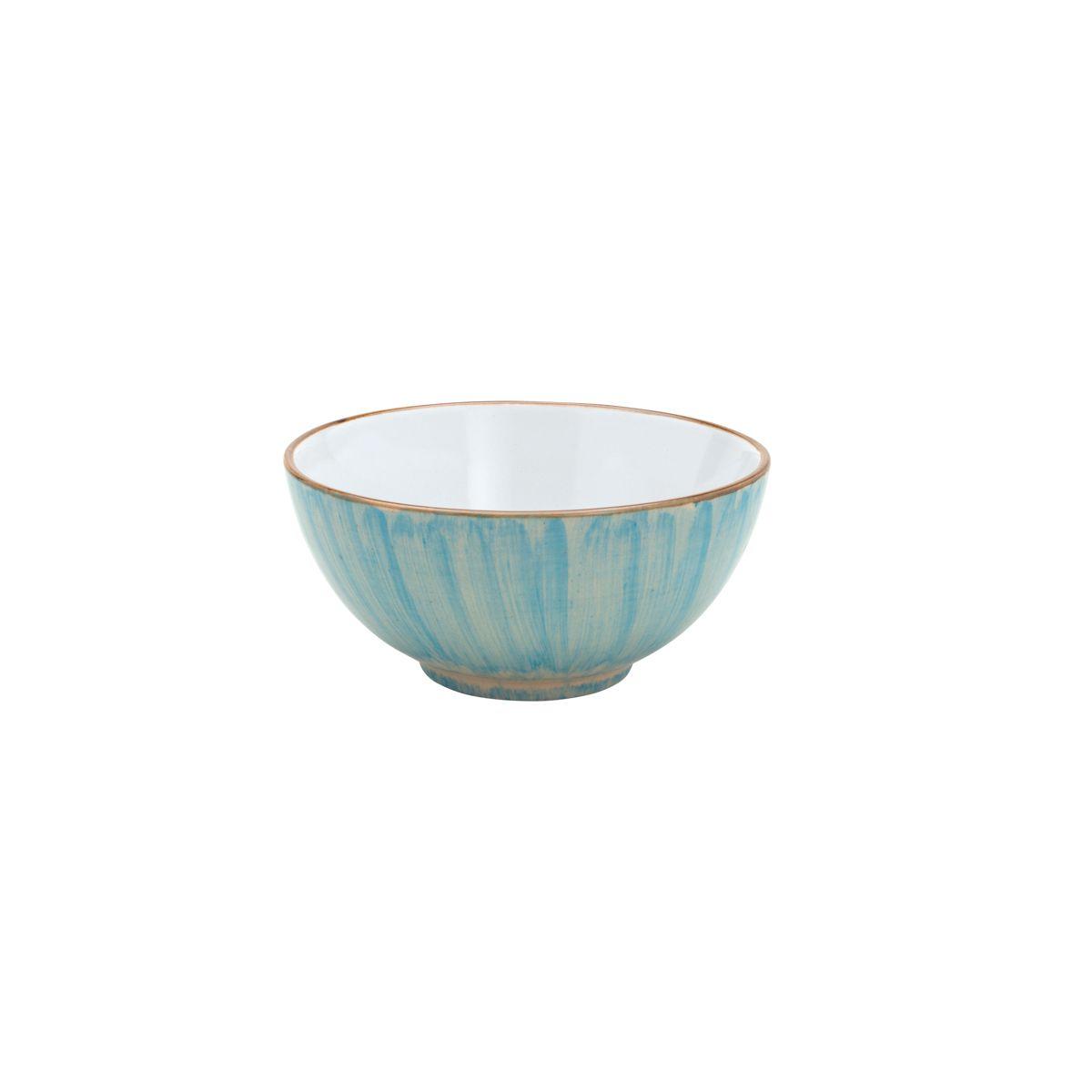 Jogo 4 bowls 14 cm para sobremesa de porcelana rosa e azul Watercolor Bon Gourmet - C26494