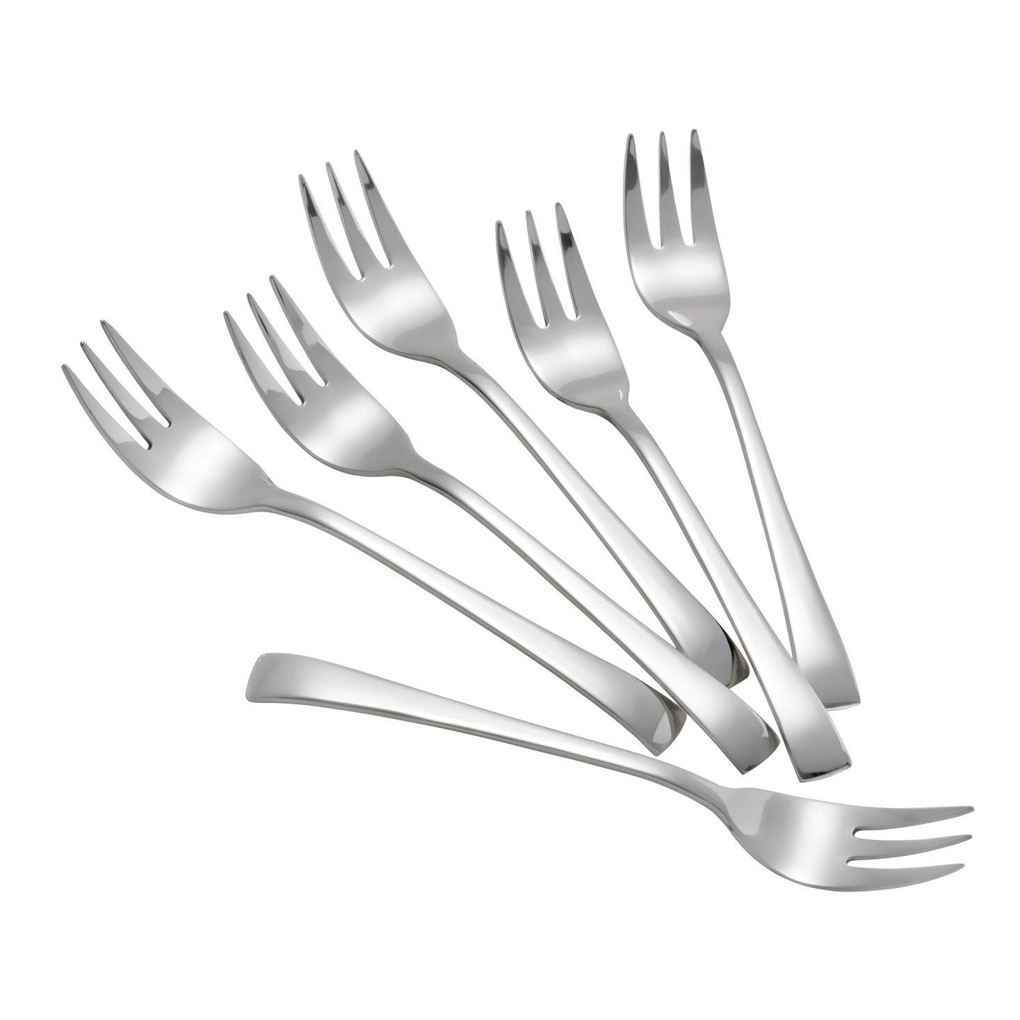 Jogo 6 peças garfo de sobremesa de aço inox prateado Berna Wolff - 81160