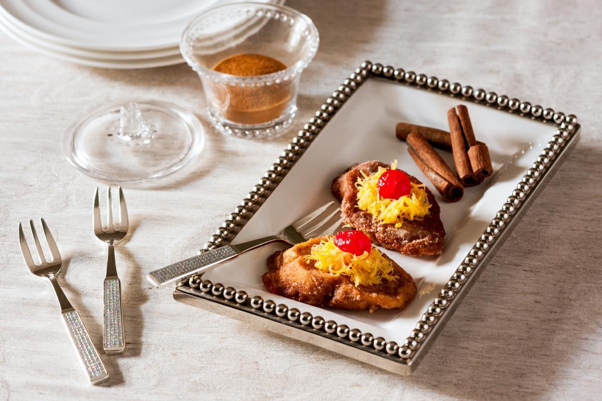 Jogo 6 peças Garfo para sobremesa de zamac prateado Epóxy Prestige - 2755