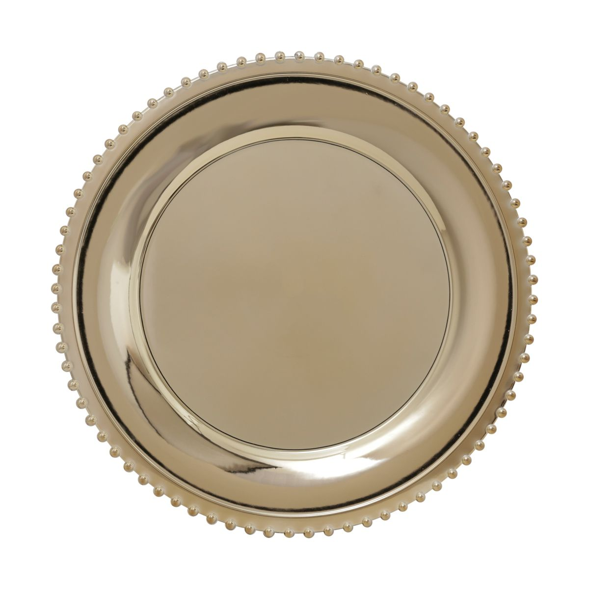 Jogo 6 peças Sousplat 33 cm de plástico dourado Balls Lyor - L4301