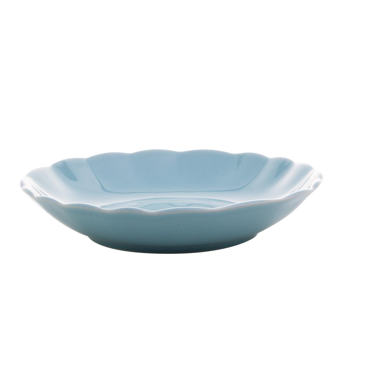 Jogo 6 pratos 20 cm fundo de cerâmica Bergama Mint Wolff - 17520
