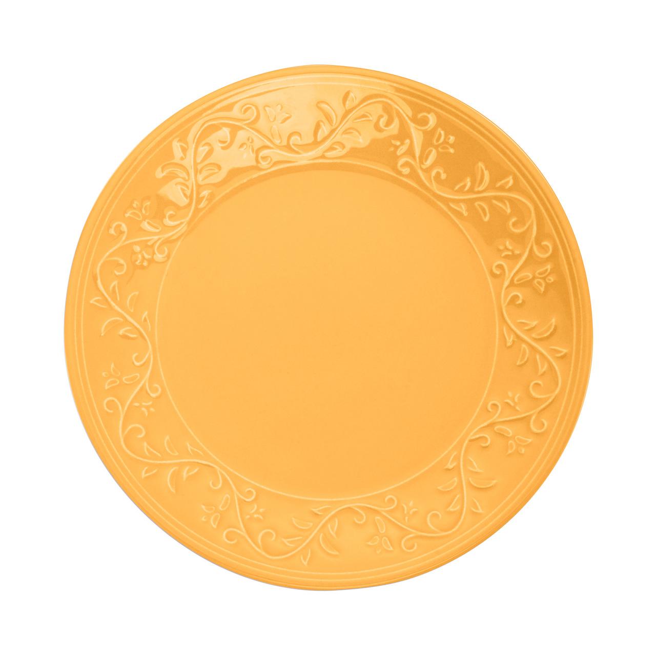 Jogo 6 pratos 26 cm raso de cerâmica Alanya Flame Wolff - 17492