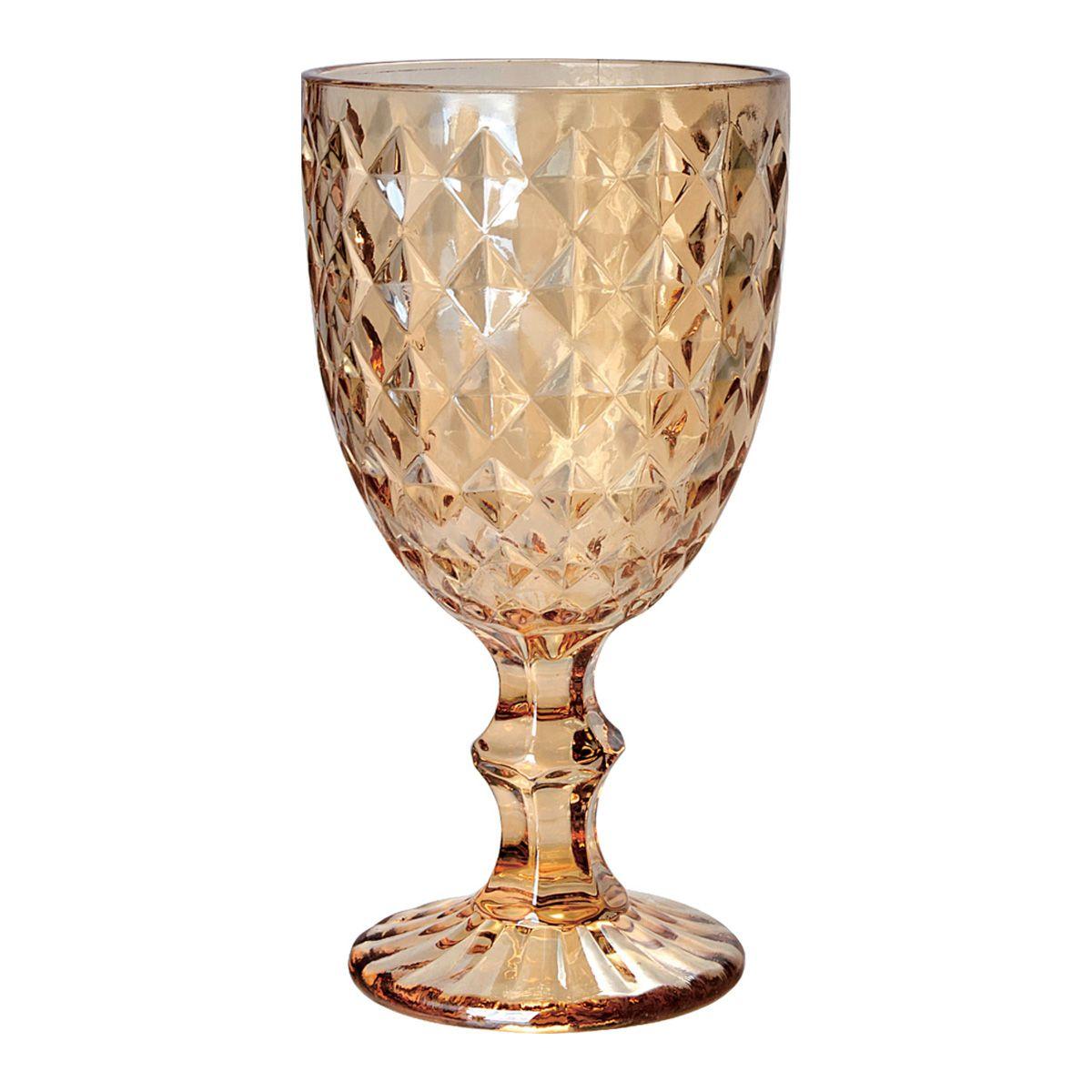 Jogo 6 taças 220ml para água de vidro âmbar Roman Bon Gourmet - 35456