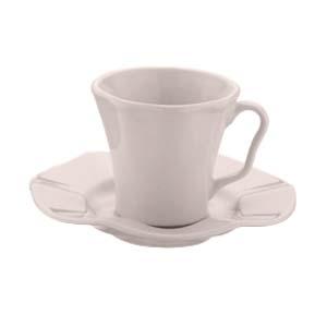 Jogo 6 xícaras 190 ml para chá de cerâmica com pires Bergama Lilac Wolff - 17529
