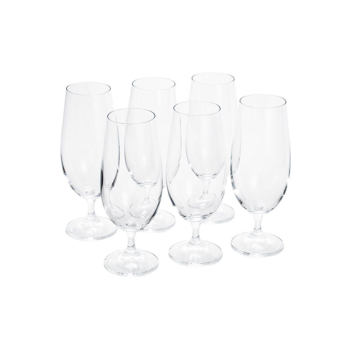 Jogo 6 taças 380ml para cerveja de cristal ecológico transparente Gastro/Colobri Bohemia - 5330