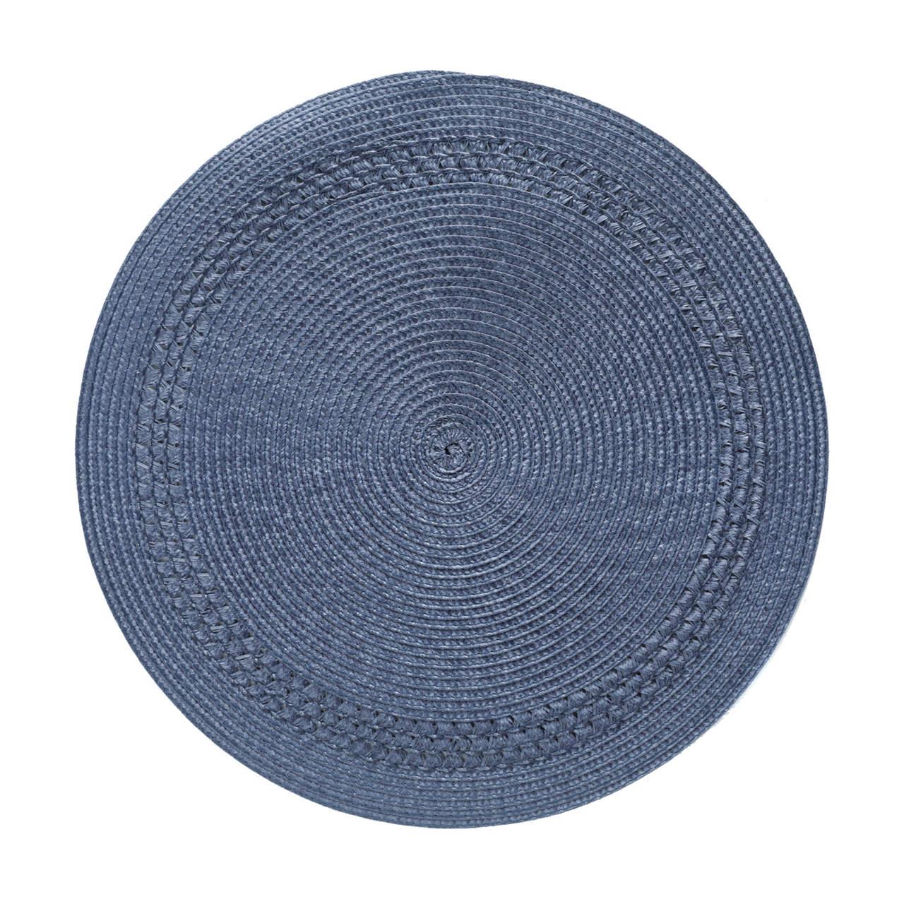 Lugar americano 38 cm poliéster azul marinho Royal Decor - 27633