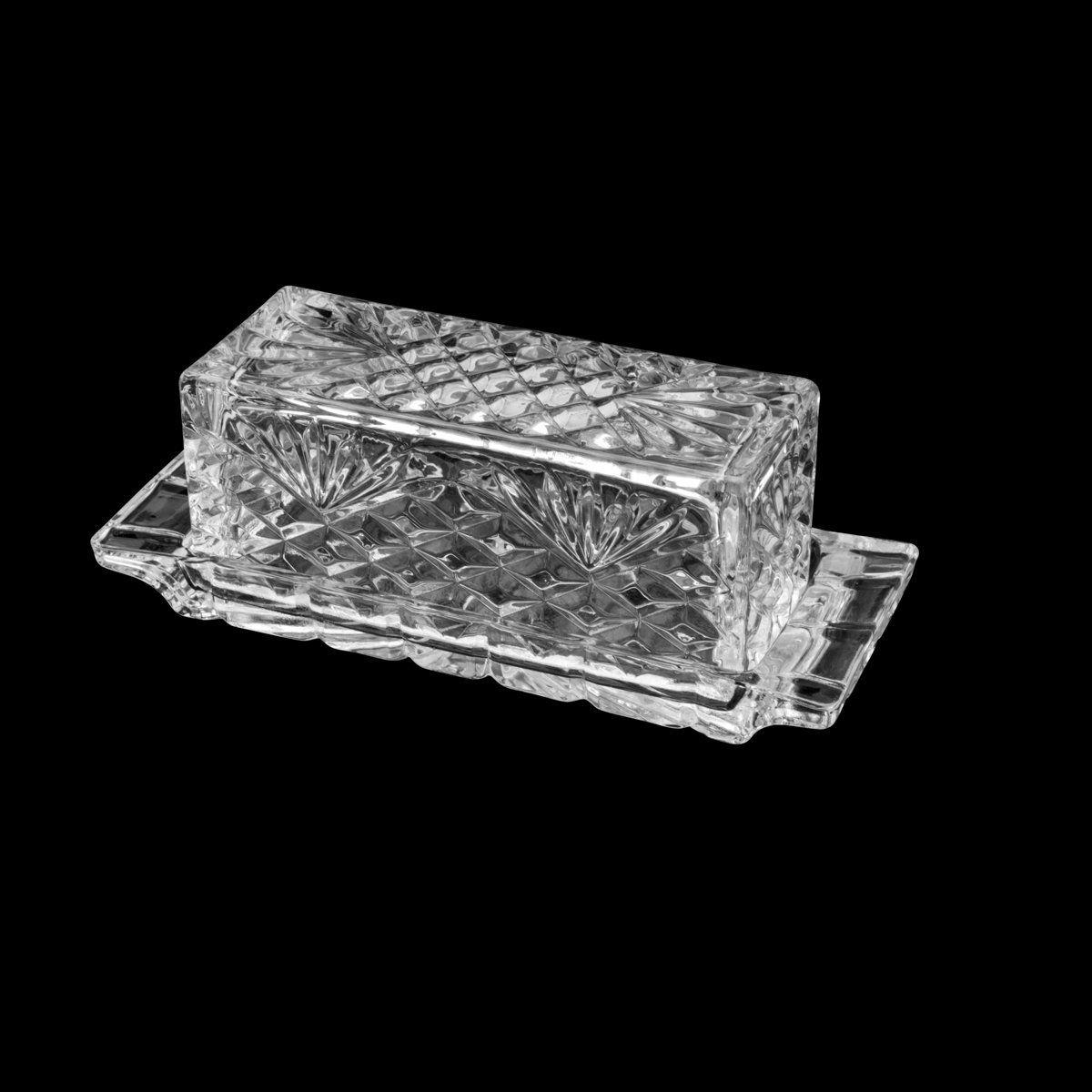 Manteigueira 21 cm de cristal transparente com tampa Dublin Lyor- L67024