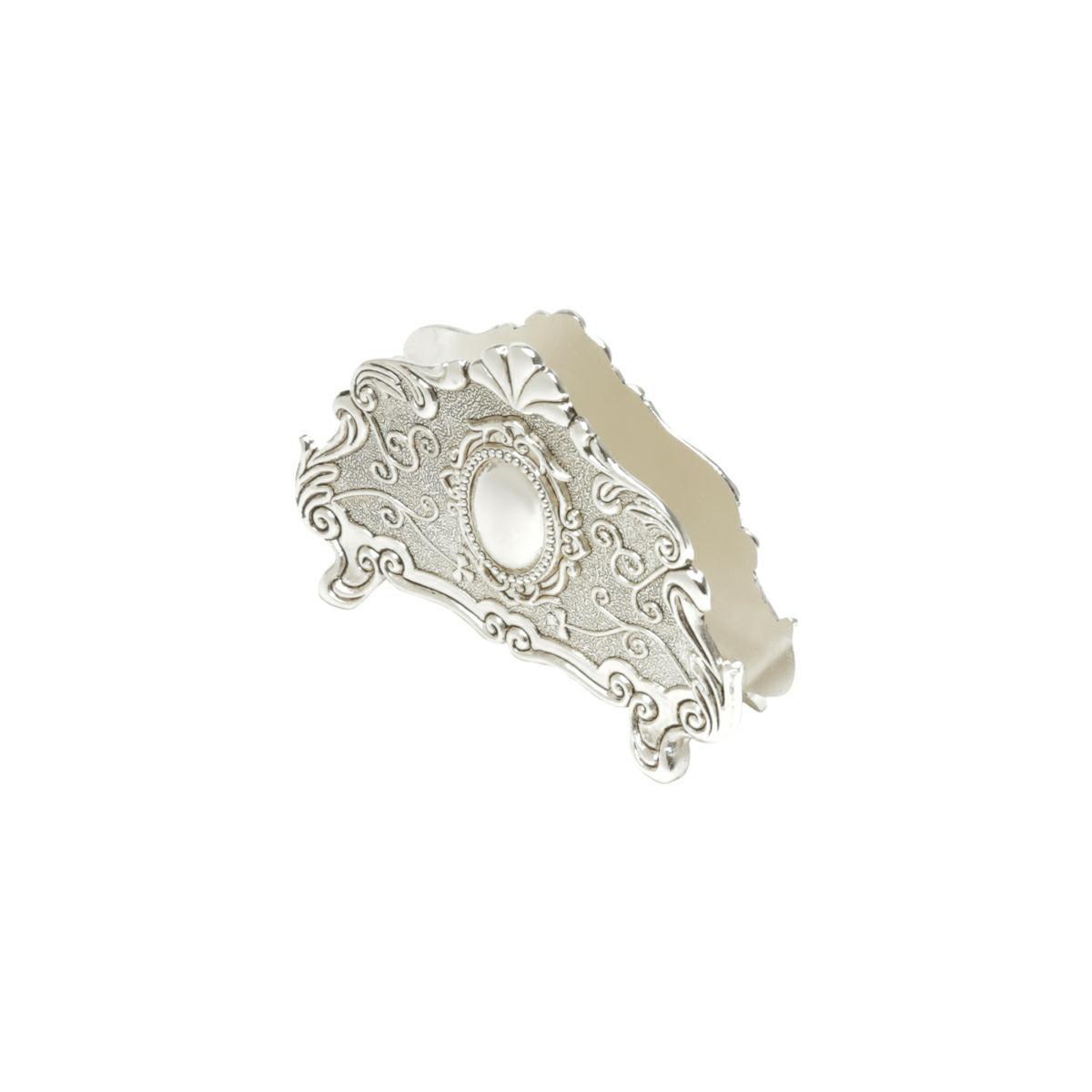 Porta-Guardanapo 13 cm de zamac prateado Prestige - 35574