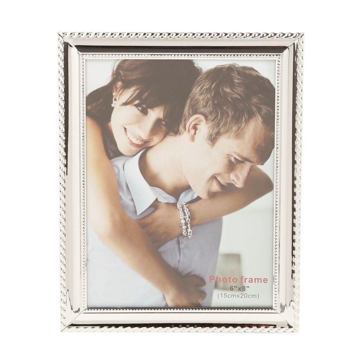 Porta-retrato 15 x 20 cm de aço prateado Knot Prestige - 25504