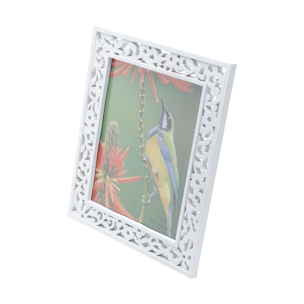 Porta-retrato 20 x 25 cm de plástico branco Provençal Prestige - 25470