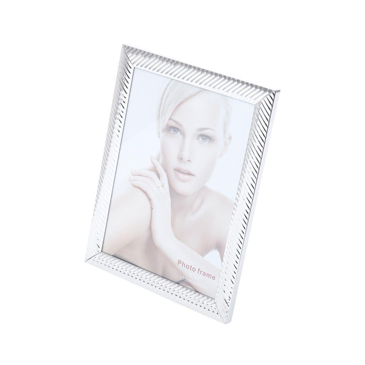 Porta-retrato 10 x 15 cm de aço prateado Lines Prestige - 25510