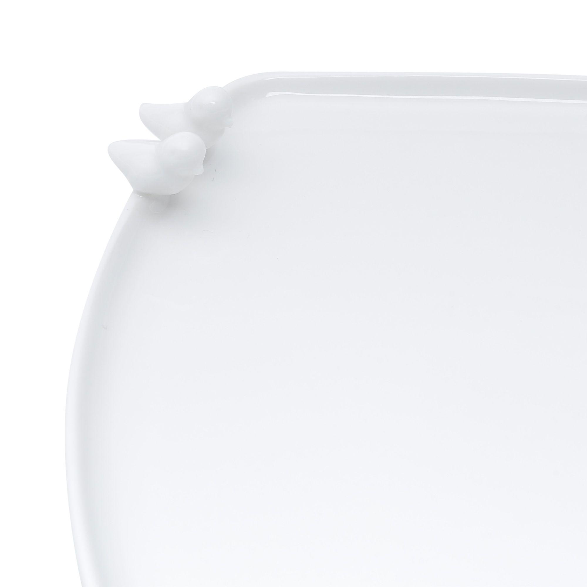 Prato 19 x 18 cm para pão de porcelana branca Birds Wolff - 17235