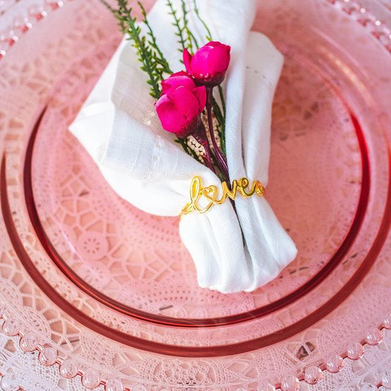 Prato 28cm de cristal rosa Pearl Wolff - 28430