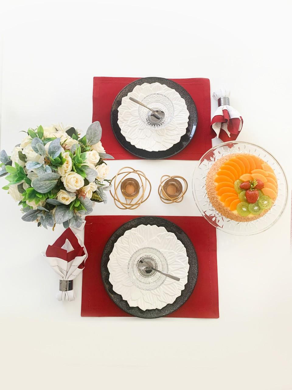 Prato de sobremesa 19 cm de porcelana branca Daisy Wolff - 27738