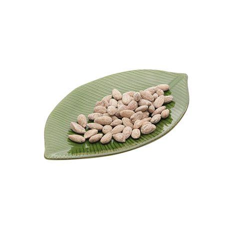 Prato decorativo 26,5 x 15,5 cm de cerâmica verde Banana Leaf Lyor - L4127