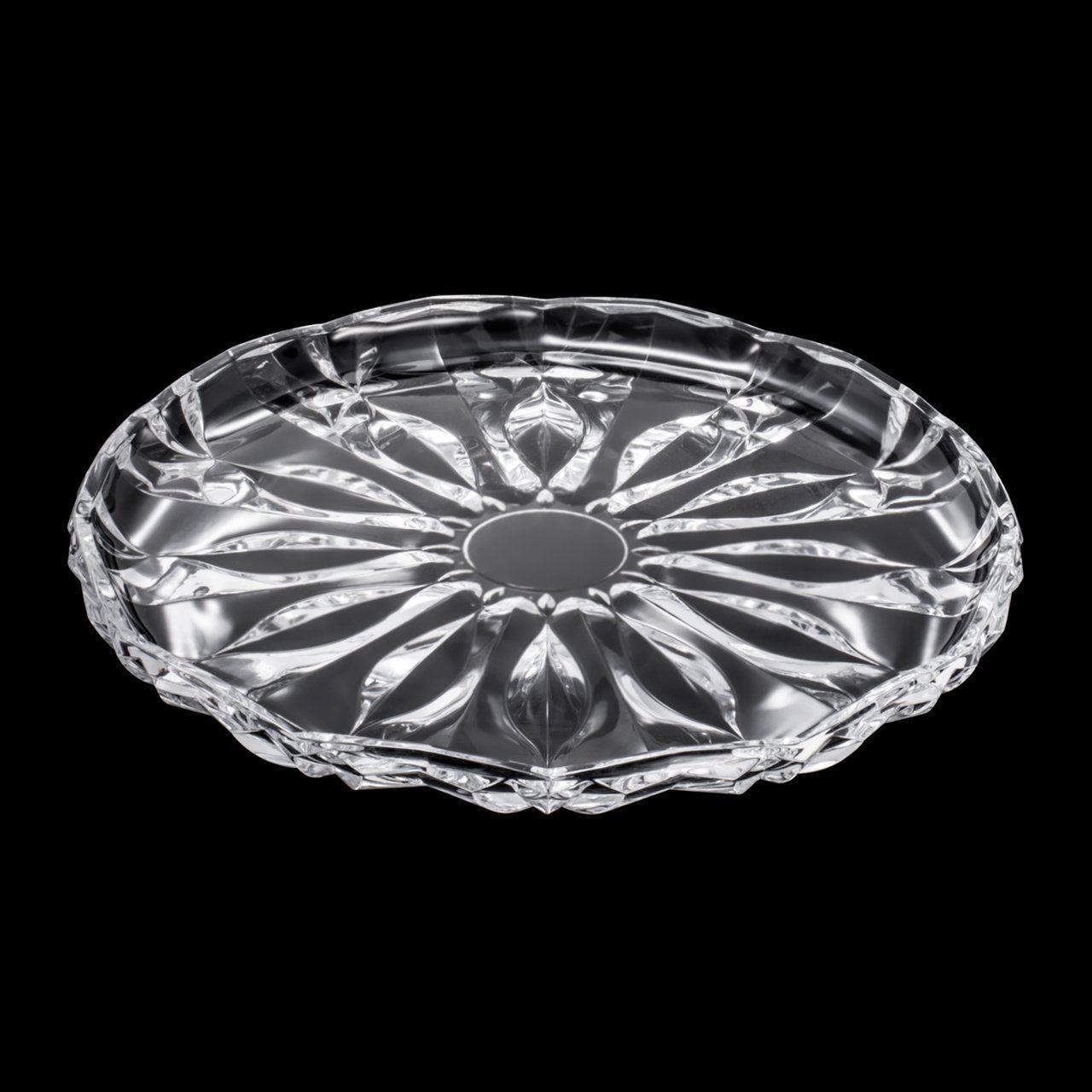 Prato 31 cm para bolo de cristal transparente Louise Wolff - 5341