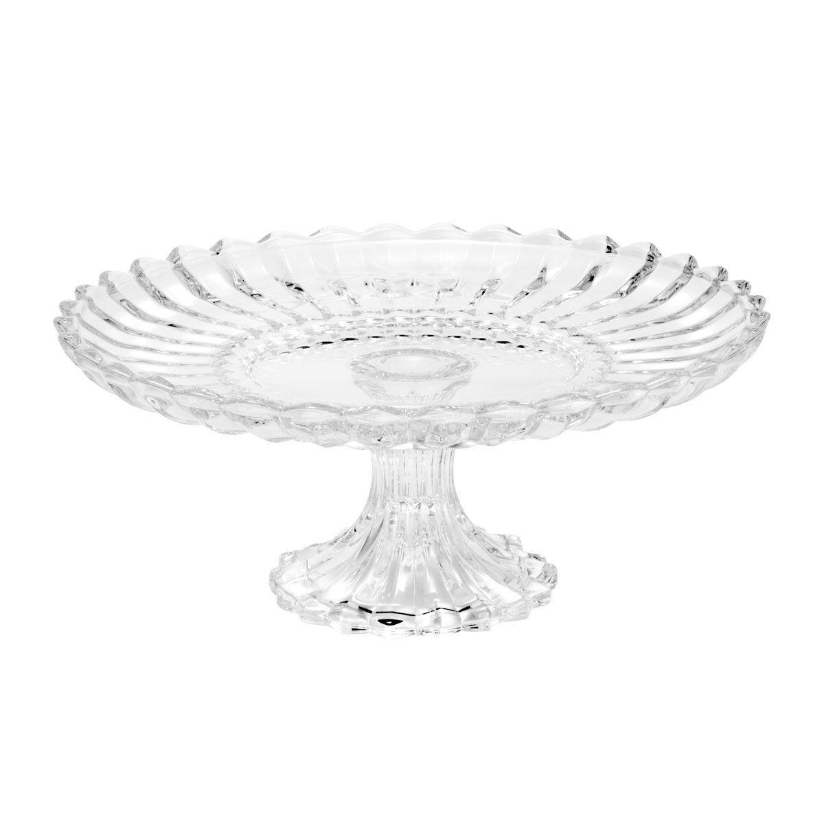 Prato 29,6 cm para bolo de cristal com pé transparente Geneva Wolff - 25529