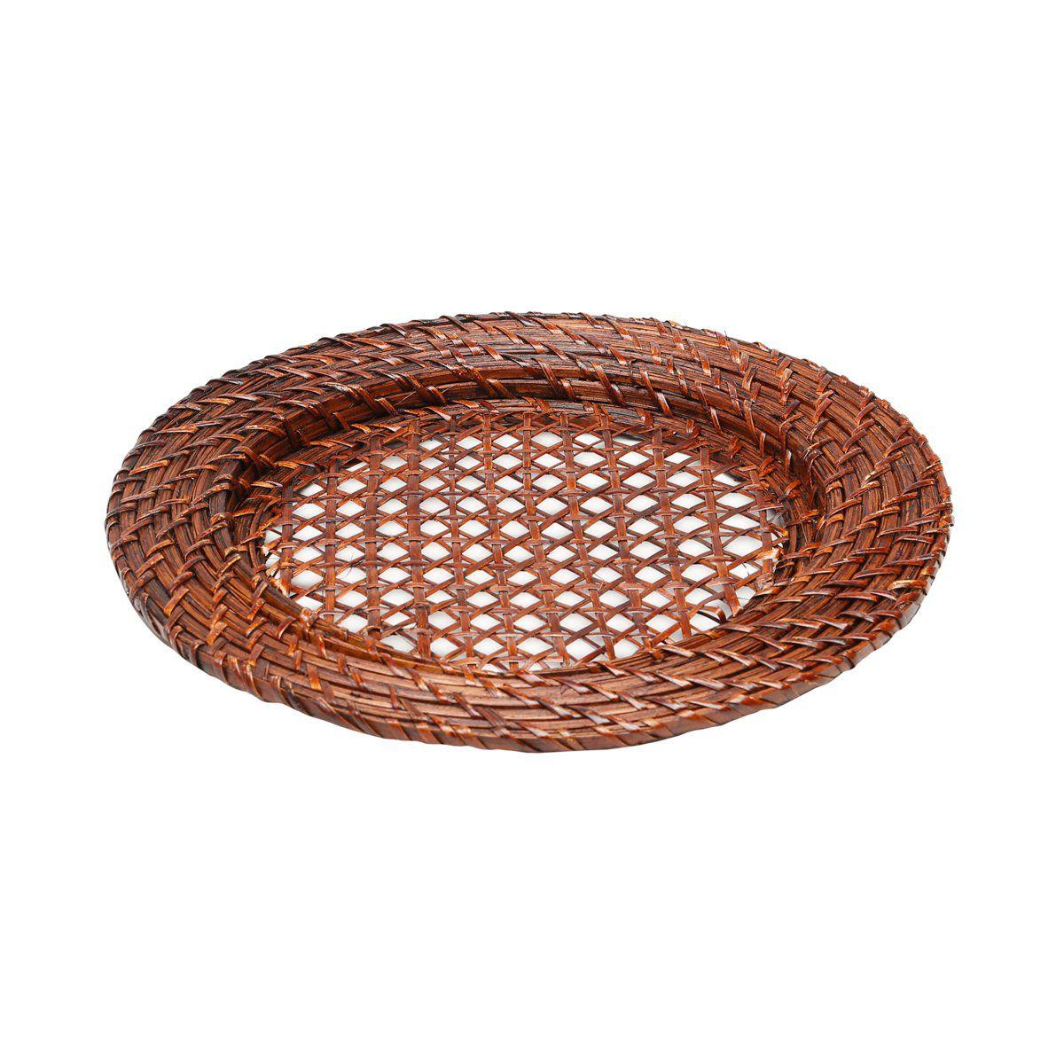 Sousplat 32 cm de rattan redondo Bon Gourmet - 1059