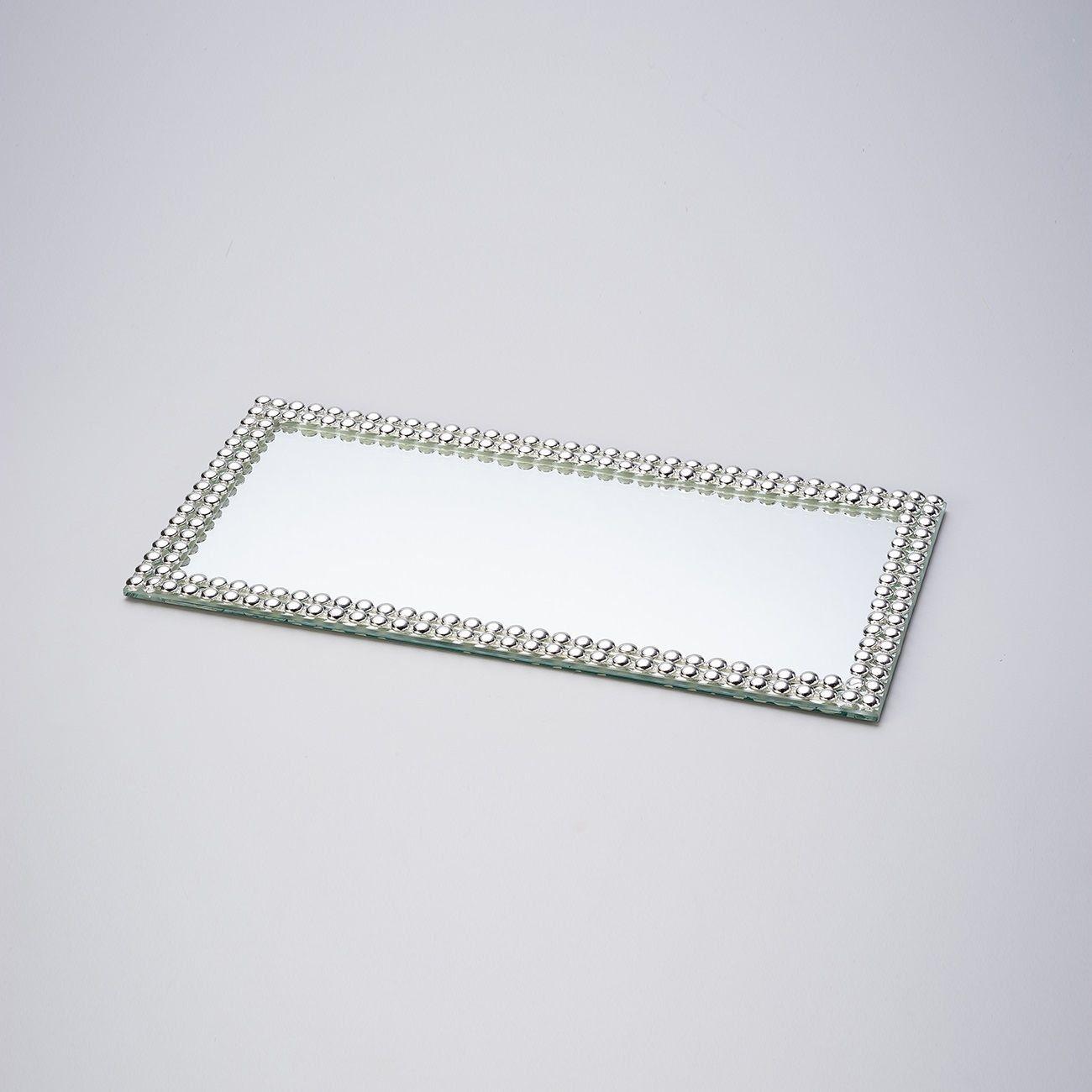Base, Suporte 32 cm com espelho e acrílico prateado Hills Prestige - 2997