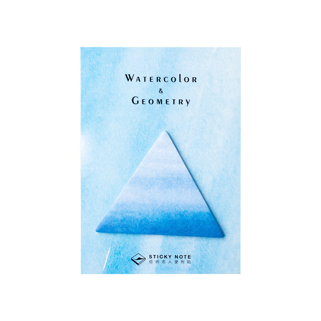 Bloquinho Watercolor and Geometry Triangulo