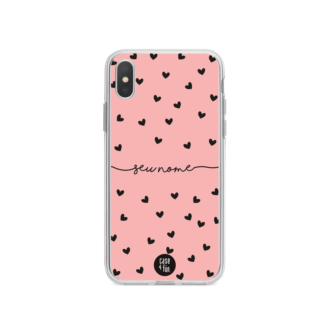 Case Black Hearts in Rose