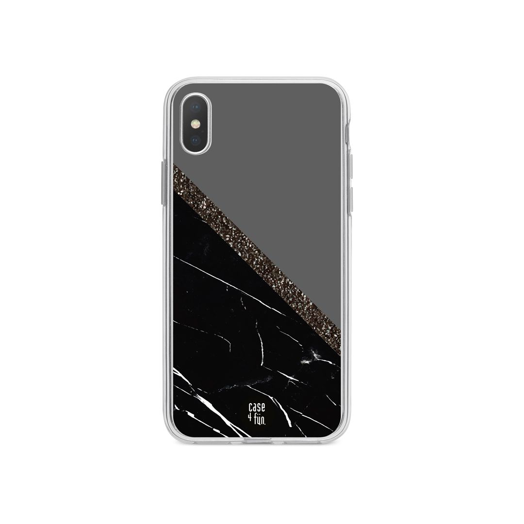 Case Black Marble and Grey