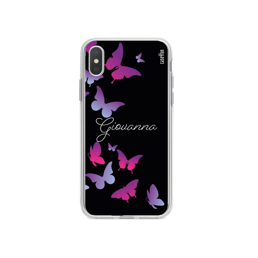 Case Butterflies Silhouttes