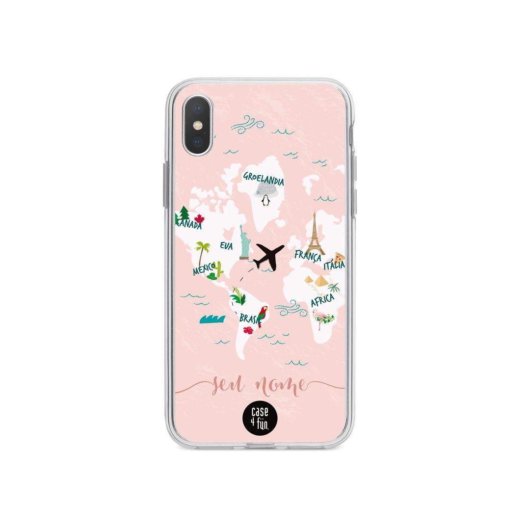 Case Mapa Mundi Pink