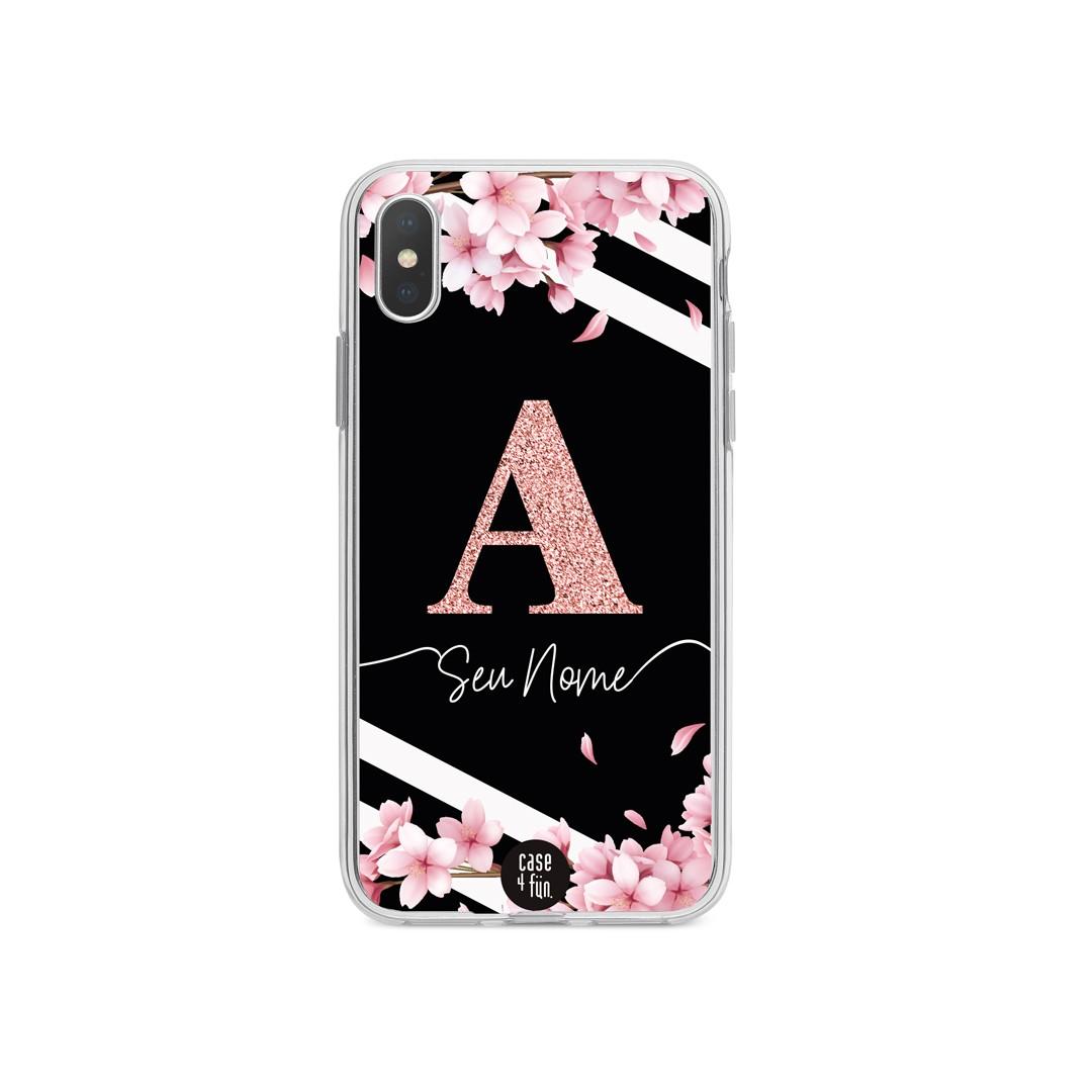 Case Monograma Glitter Cherry Blossom in Line