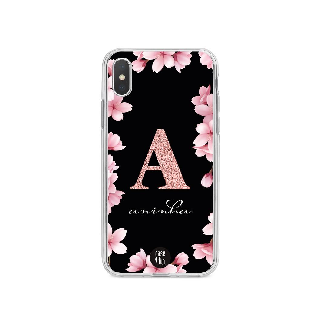 Case Monograma Glitter Side Floral
