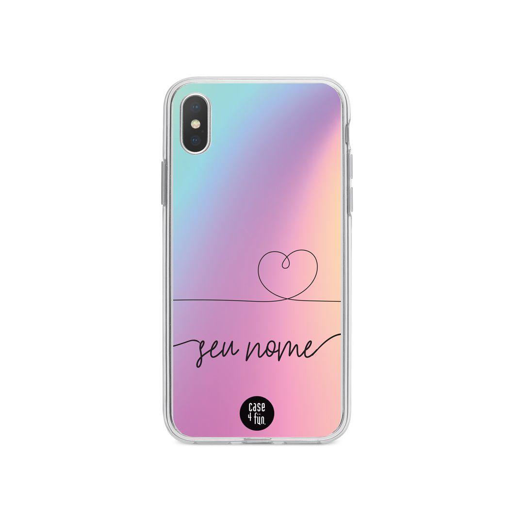 Case Rainbow com Coração