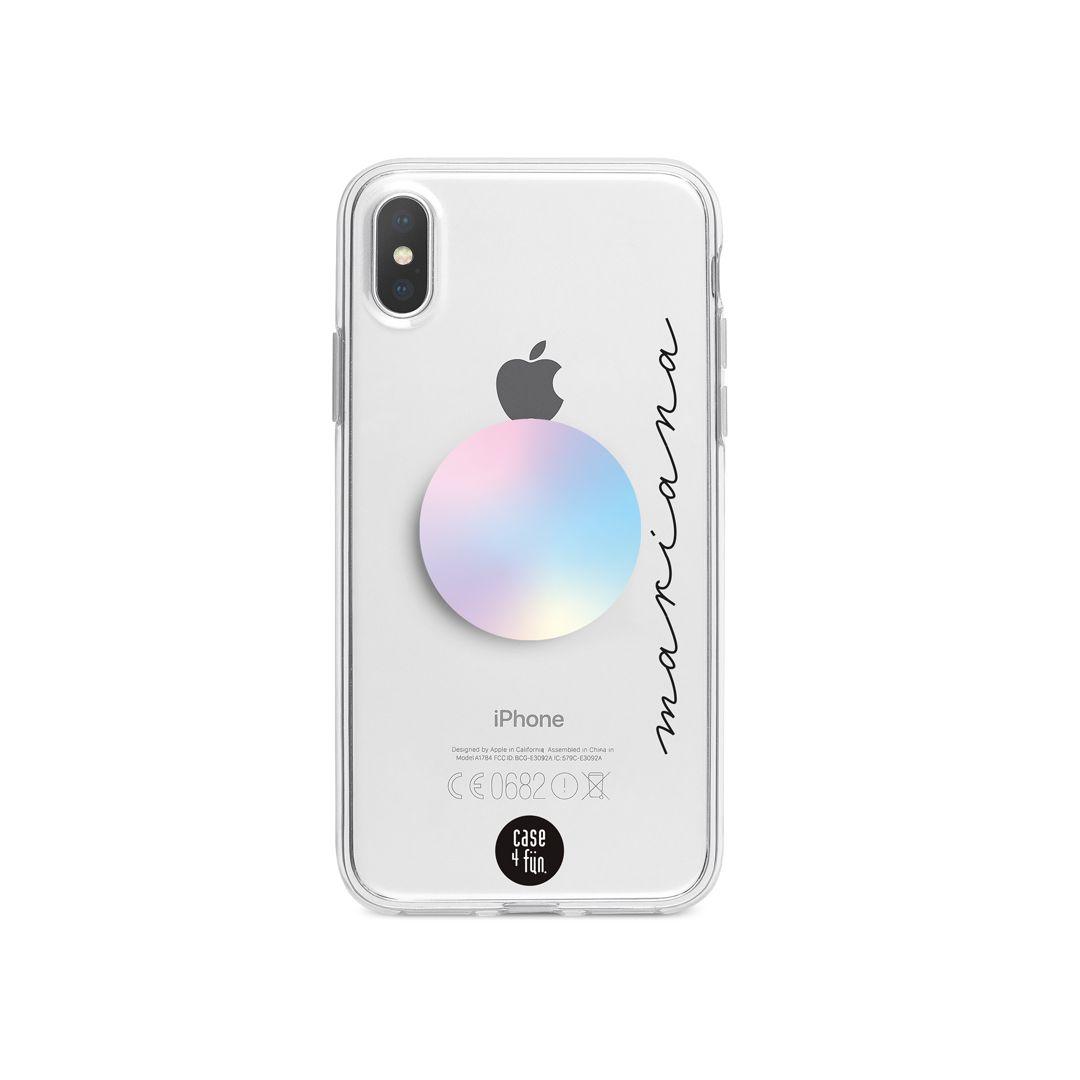 Kit Case Básica com Nome + Suporte Pop Holográfico