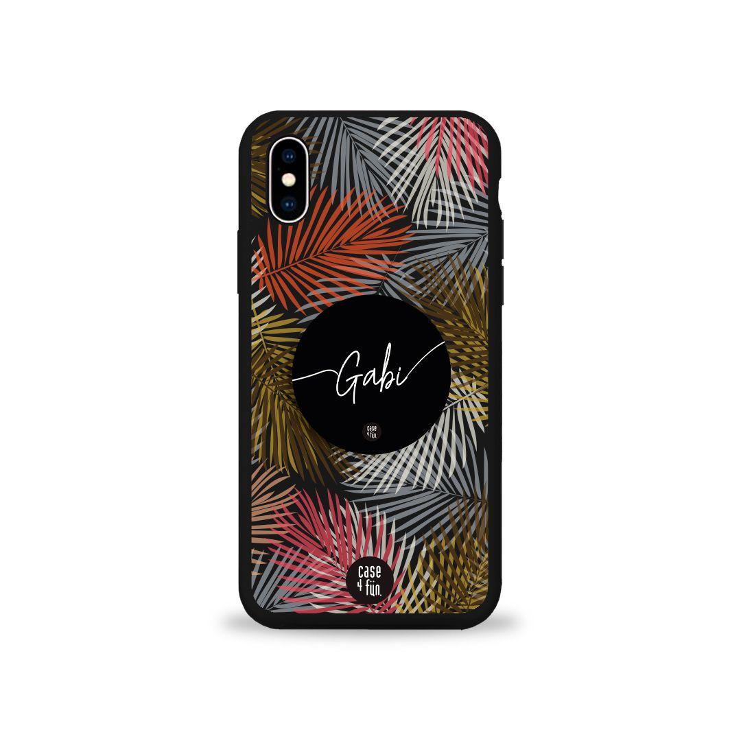 Kit Case Black Arte Tropical + Suporte Pop Preto Básico com Nome