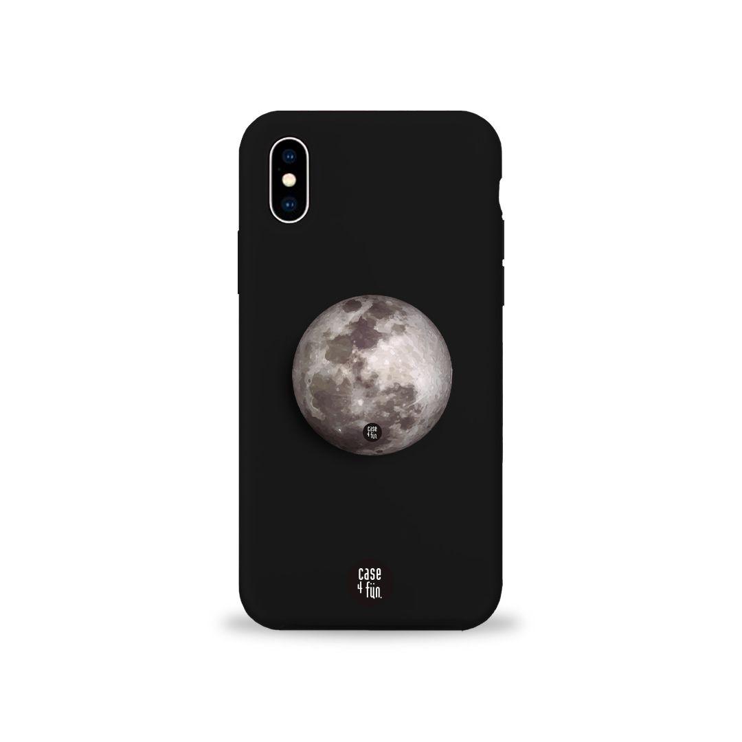 Kit Case Black + Suporte Pop Branco Moon