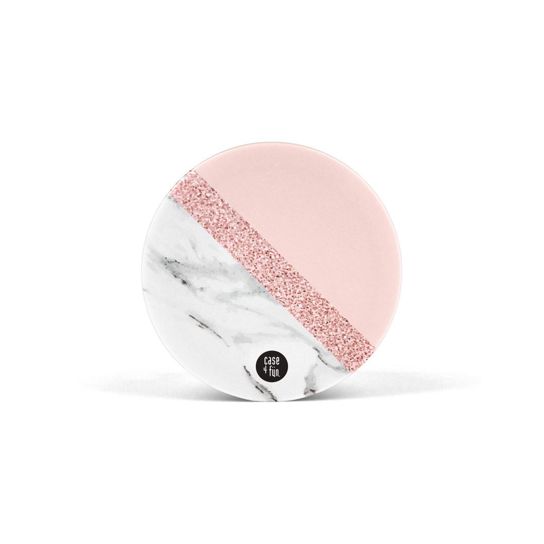 Suporte Pop Estampas - White Marble com Rose