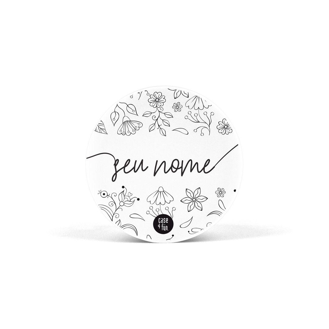 Suporte Pop Personalizável - Black Floral