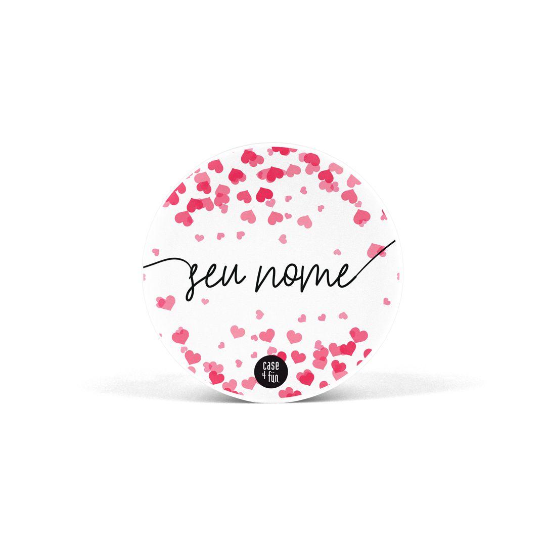 Suporte Pop Personalizável - Confetti Heart
