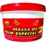 "Massa Para Polir Nº 2 Fina  Branca ""À Base D'Agua"" (500G) Suncar"