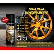 "Tinta Para Envelopamento Liquido Spray DIP WHEEL Radnaq 500ml ""PRETO"""